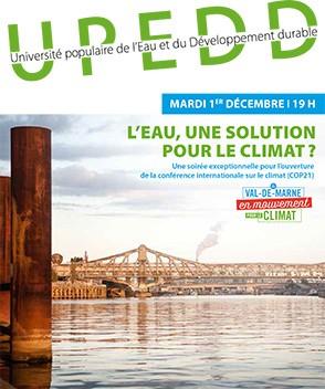 Soirée exceptionnelle de l'UPEDD : L'eau, une solution pour le climat ?
