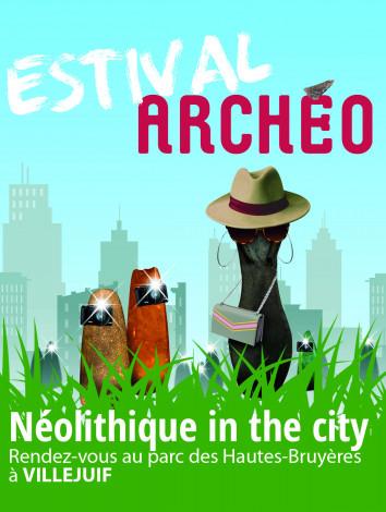 Affiche 2021 du festival Estival Archéo