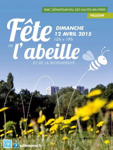 Affiche de la fête de l'abeille et de la biodiversité