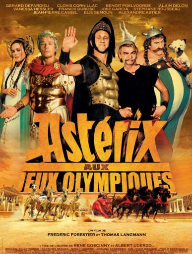 Projection en plein air du film Astérix aux Jeux Olympiques au parc du Plateau