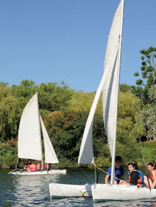 Activités nautiques au parc du Val-de-Marne, crédit photo : © Michel Aumercier