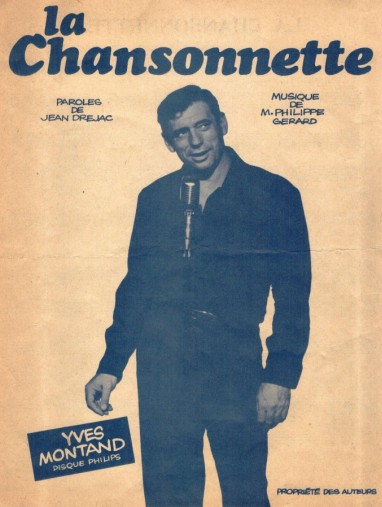 Couverture de la partition musicale « La chansonnette». 1961(©Collection particulière).