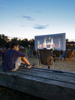 Cinéma en plein air ; crédit photo : David Merle