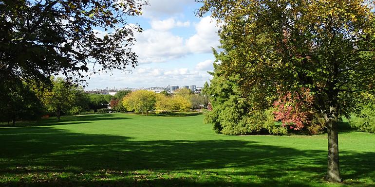 Vue du parc du Plateau à Champigny-sur-Marne classé espace naturel sensible