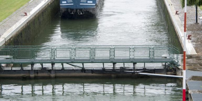 Une écluse sur la Seine