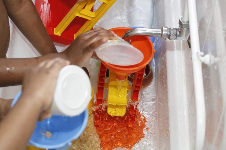 Activité jeu d'eau