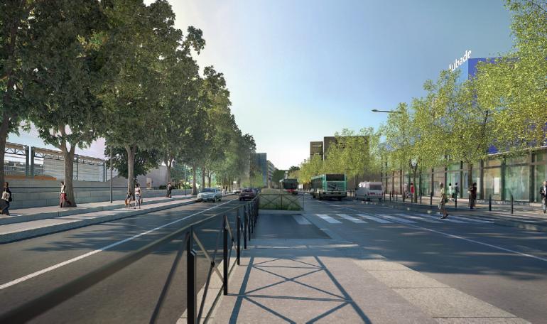 Le partage de la voirie sera rééquilibré entre les piétons, les cyclistes, les bus et les automobilistes.