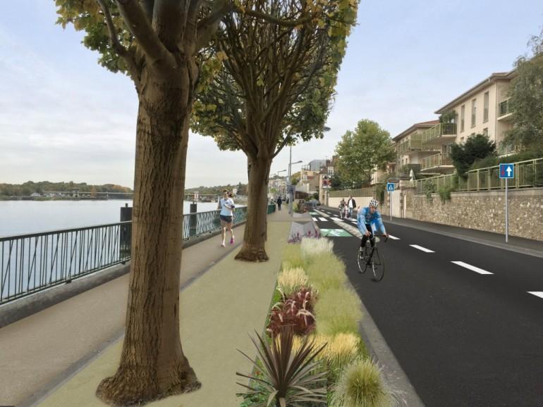 un nouvel espace apaisé et partagé à Ablon-sur-Seine