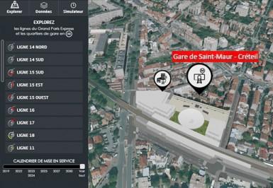 Carte interactive du Grand Paris Express