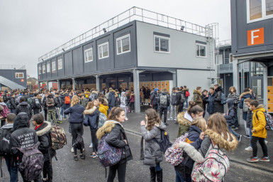 Rentrée collège provisoire Simone Veil © Michael Lumbroso