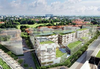 Aménagement : futur Eco-campus sur le domaine départemental Chérioux (Vitry-sur-Seine).
