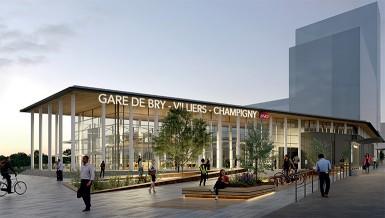 Perspective de la future gare Bry-Villiers-Champigny.