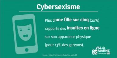 Infographie sur le cyber-harcèlement et cybersexisme