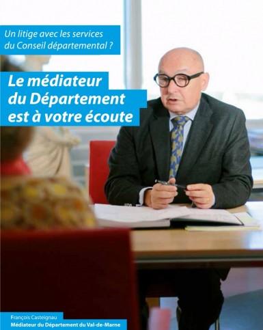 François Casteignau, Médiateur du Conseil départemental du Val-de-Marne