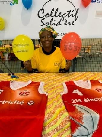 Portrait de Sèlay Diakité – Téléthon (2019) - présidente du collectif Solid'ère