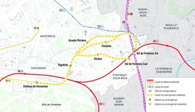 Trois tracés ont été identifiés et sont présentés à la population du 10 novembre au 10 janvier 2015.