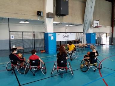 Sensibilisation au basket fauteuil – Collectif Solid'ère (2020),  Fontenay-sous-Bois
