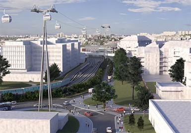 """Projet de station du Câble A - Téléval """"Créteil – Pointe du Lac"""""""