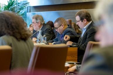 La majorité départementale a présenté le 15 février 2016 son rapport sur les orientations budgétaires pour l'année 2016. Le vote du budget primitif aura lieu en séance le 11 avril 2016. © Alain Bachellier