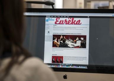 Le portail en ligne Eurêka a été lancé en 2014. Il met à disposition toutes sortes de ressources numériques. © Michael Lumbroso