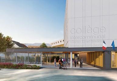 Perspective du futur collège intercommunal de Valenton/Limeil-Brévannes/Villeneuve-Saint-Georges.