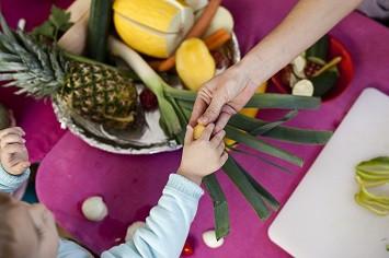 fruits et légumes, enfant