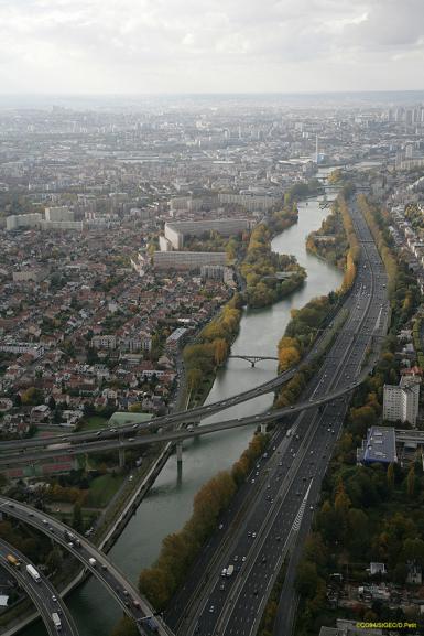 Vue de Maisons-Alfort, Département du Val-de-Marne