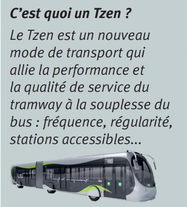 Le Tzen, un nouveau mode de transport développé par le STIF