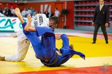 Luka Mkheidze (Club de judo de Sucy-en-Brie) lors des championnats de France en novembre 2018.