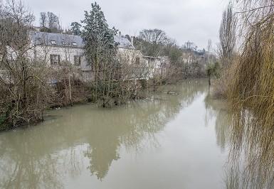 Inondation dans le quartier Belleplace-Blandin, à Villeneuve-saint-Georges, après la montée des eaux de l'Yerres (Janvier 2018)