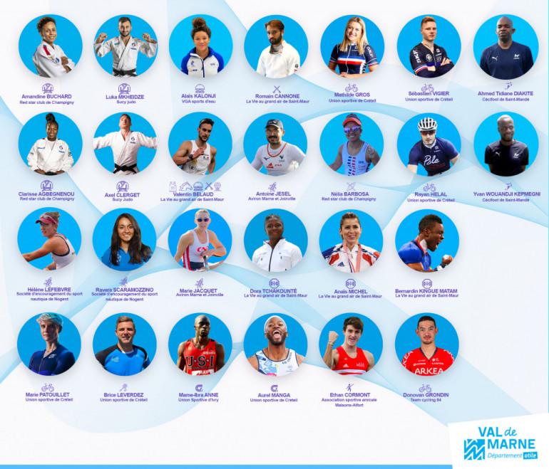 Athlètes val-de-marnais qualifiés pour les jeux olympiques et paralympiques de Tokyo