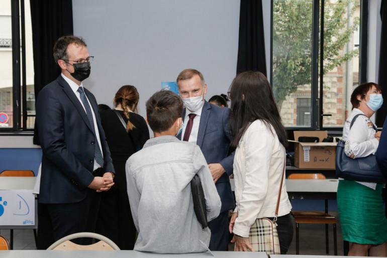 Lancement d'Ordival au collège Henri-Matisse à Choisy-le-Roi, samedi 11 septembre 2021 ; photo : Agnès Deschamps