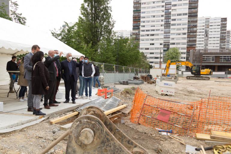 Visite de chantier de la future crèche des Larris à Fontenay-sous-Bois ; crédit photo : D. Calin