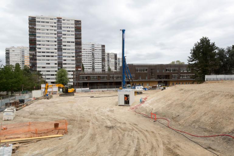 Début du chantier de la future crèche des Larris à Fontenay-sous-Bois ; crédit photo : D. Calin