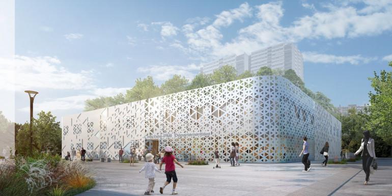 Vue du mail, projet des Larris à Fontenay-sous-Bois ; crédit : ARC AME L'Agence Française