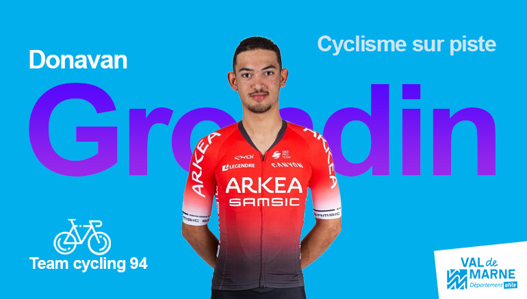 Donavan Grondin, médaillé de bronze en cyclisme sur piste