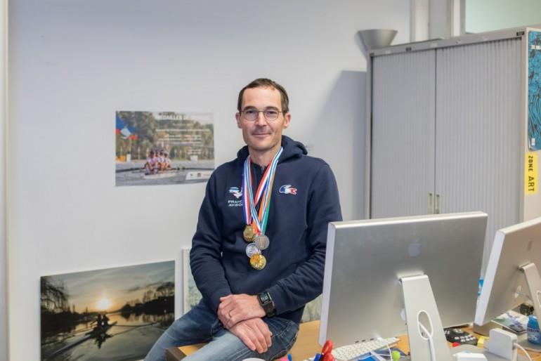 Antoine Jésel, champion d'aviron. © Eric Legrand.