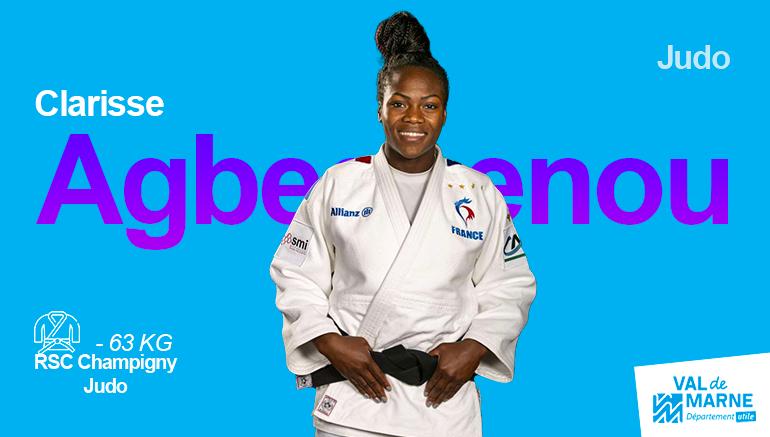 Clarisse Agbegnenou, médaillée d'or en judo (-63kg)