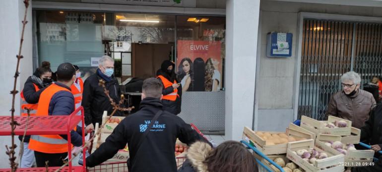 Livraison de fruits et légumes avec l'association J'aide La Chance à Champigny-sur-Marne