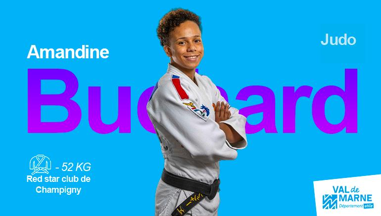 Amandine Buchard, médaillée d'argent en judo (-52kg)