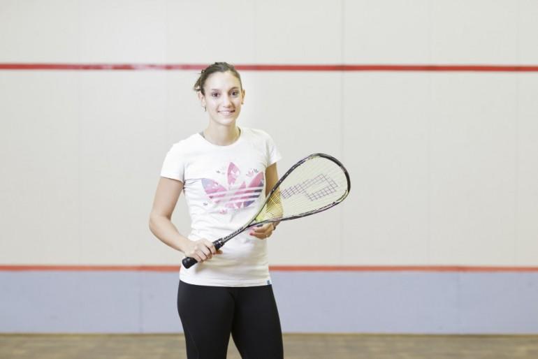 Camille Serme, championne de squash. © Joseph Melin.