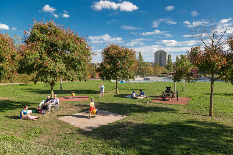 Vue du parc de la Saussaie-Pidoux ; crédit photo : D. Calin