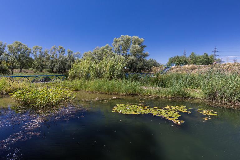 Vue du parc de la Plage-Bleue ; crédit photo : E. Legrand