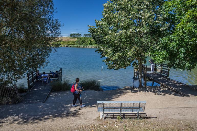 Vue du parc de la Plage-Bleue à Valenton ; crédit photo : E. Legrand