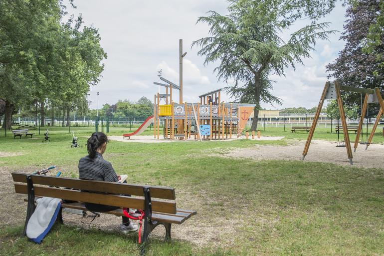Vue du parc interdépartemental des sports ; crédit photo : Michael Lumbroso