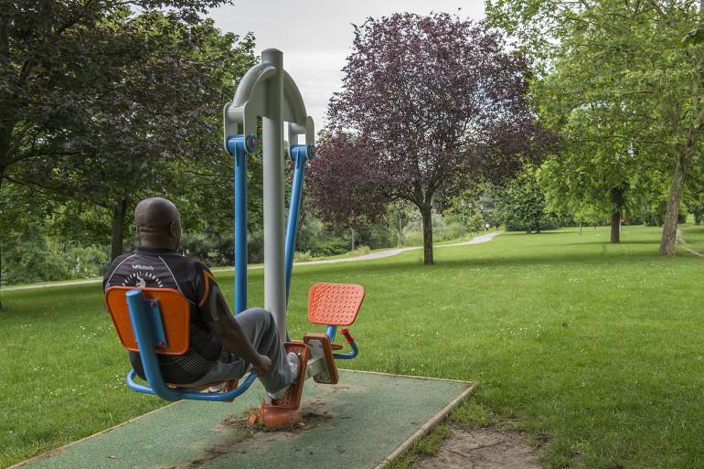 Installation sportive au parc départemental du Val-de-Marne à Créteil ; crédit photo : Michael Lumbroso