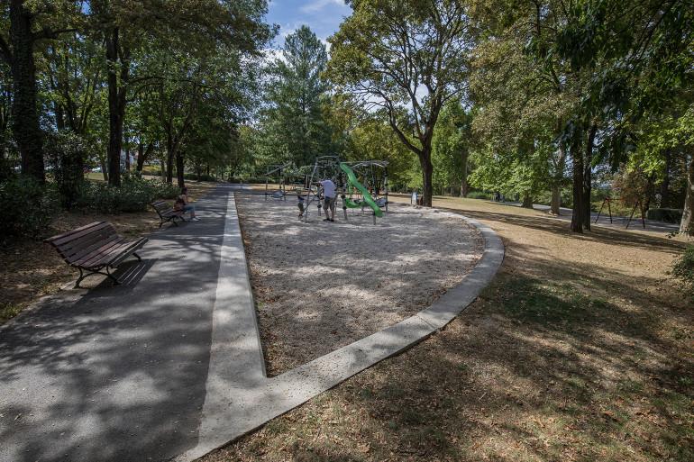 Vue du parc du Rancy ; crédit photo : Eric Legrand
