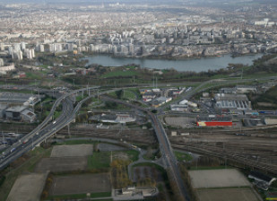 Photo vue du ciel du département du val-de-marne