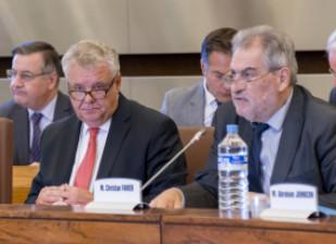 Thierry Leleu, le Préfet du Val-de-Marne, était invité à présenter les actions de l'État devant les Conseillers départementaux. ©Alain Bachelier