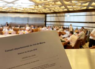 Séance : compte-rendu de la séance du Conseil départemental du Val-de-Marne du lundi 24 juin 2019.